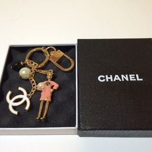 Authentic Chanel Key Chain/Ring/Charm Pink New